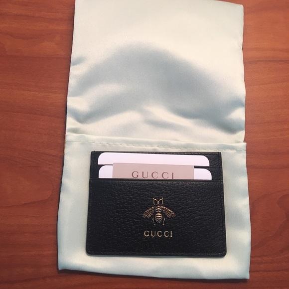 3a1ff962903433 Authentic Gucci Animalier Leather Card Case. M_5cafb8b2138e18084b7d94a6